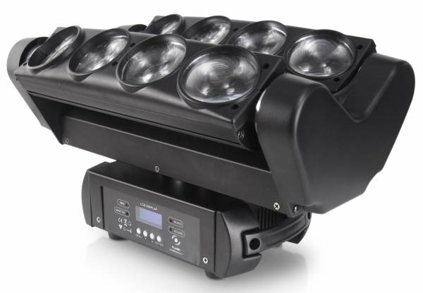 Spyder Moving Head 8 * 10 W RGBW